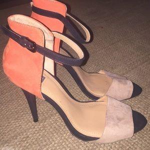 Zara Collection color block stiletto heels